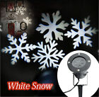 Moving In/Outdoor LED Snowflake Wall Laser Projector Lamp Light Xmas Wedding