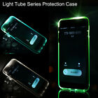 LED Incoming Call Blink Flash Cover Slim Clear Luminous Case For iPhone 6S Plus