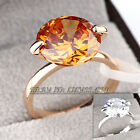 B1-R510 Fashion Simulated Gemstone Ring 18KGP Rhinestone Crystal Size 5.5-10