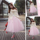 Women Girl Tutu Skirt Elastic Waist Ballet Tulle Dress Formal Wedding Party New