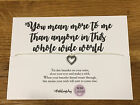 Personalised Wish Bracelet Inspirational Quote Love more than anyone friend gift