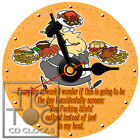 S-841 CD CLOCK-WAITRESS-GREAT GIFT FOR YOUR FAVORITE WAITRESS-DESK OR WALL