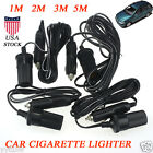 1M/2M/3M/5M 12V 10A Car Accessory Cigarette Lighter Socket Extension Cord Cable