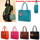 Fashion Women Girls Handbags Leather Shoulder Bag Candy Color Flowers Totes US