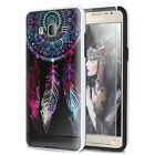 For Samsung Galaxy On5 Shockproof Brushed Image Hard Case +Tempered Glass Screen
