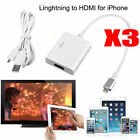 3PCS 8 Pin Lightning to HDMI HDTV Adapter Cable for iPhone 5 67 Plus iPad Air