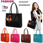 Fashion Women's Candy Color Flowers Totes Handbags PU Leather Shoulder Bag 2017