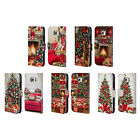 THE MACNEIL STUDIO CHRISTMAS TREE LEATHER BOOK WALLET CASE FOR SAMSUNG PHONES 1