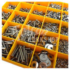 3500 ASSORTED M4 A2 STAINLESS SOCKET BUTTON CSK CAP SCREW NUT WASHER METRIC KIT