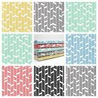 HERRINGBONE - MODERN GEOMETRIC ARROW PRINT cotton fabric DRESSMAKING QUILTING