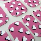 Valantine CHIX NAILS Heart to Heart Pink Vinyl Nail Wraps Fingers Toes Foils
