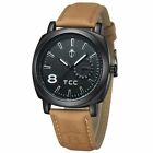 Military Army Quartz Wrist Watch CURREN Men's Leather Strap Sport Formal New Hot image