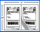Self Adhesive Shipping Labels A4 (2 Labels/Page 8.5x5.5) Round Edge