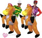 JOCKEY RIDING INFLATABLE HORSE COSTUME RACING FANCY DRESS FUNNY STAG PUB CRAWL