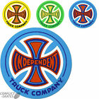 "INDEPENDENT TRUCK CO ""77"" Skateboard Sticker 7cm Decal INDY Green Yellow or Blue"