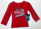 Ohio State Toddler Girls Love Buckeyes Long Sleeve Shirt Sizes 12M 18M or 2T NWT