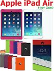 AMZER Soft Silicone Jelly Skin Case Cover Screen Protector For iPad Air 1st Gen