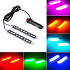 2pcs Led Rgb Car Interior Atmosphere Light Footwell Cigarette Lighter Decor Lamp