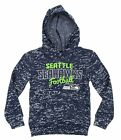 NFL Youth Seattle Seahawks Girls Fleece Hoodie, Navy