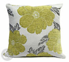 Chenille Poppy Cushions - Lime Green Large & Small Floral Scatter Cushion Covers