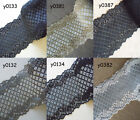 """6 Colors 5"""" wide Stretch Floral Lace Grey,Dark Blue,Yellow,Silve Grey,Black yzh1"""