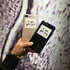 New  Couple simple English Transparent Soft Case For iPhone7 6 6S plus