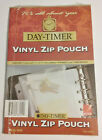 Day-Timer Vinyl Zip Pouch 5.5 x 8.5 Inches Clear