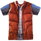 Back To The Future Movie Marty Mcfly Vest Costume 1-sided Big Print Poly T-shirt