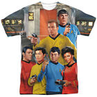 Star Trek Original Series Cast on BRIDGE 1-Sided Big Print Poly T-Shirt on eBay