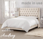 Horchow Delamore Style Restoration Chesterfield Tufted Hardware Audrey Queen Bed