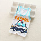 2Pcs Summer Children Character Vest Waistcoat Kids Sleeveless Shirt For Girl Boy