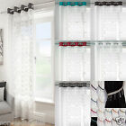 Spiro Mexico Modern Retro Voile Net Curtain Eyelet Ring Top Ready Made 5 Colours