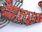 Vintage Repro Golden Crystal Rhinestone Lobster Fashion Jeewelry Pin Brooch. Bes