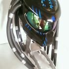 Custom Predator Motorcycle Helmets DOT  Full Face Foam Dread Black All Size