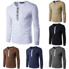 Stylish Mens Muscle Shirts Slim Fit Long Sleeve Casual T-Shirt solid Tee Tops