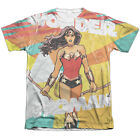 Wonder Woman HANDS FULL 1-Sided Sublimated Big Print Poly Cotton T-Shirt