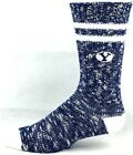 BYU Cougars Alpine Crew Socks Navy and White Heel and Toe Logo Leg