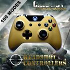 Xbox One/S Metallic Gold Arbiter 5 Rapid Fire 2 x Paddle Controller BF IW GOW