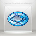 Sticker Decal fresh fish store sign Car Motorbike Bike Garage bike st7 2X72W