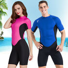 NEW 2mm Unisex Short Sleeve Winter Swimming Diving Sufring Jumpsuit Wetsuit
