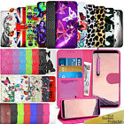For Samsung Galaxy Phones -Wallet Leather Case Flip Cover + Screen Protector