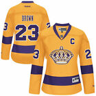 Reebok Dustin Brown Los Angeles Kings Womens Yellow Premier Player Jersey