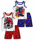 Boys Spiderman PJ Set New Kids Marvel Vest T-Shirt Shorts Pyjamas Ages 3-8 Years