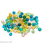 Wholesale Lots HX Mixed Crystal Glass Faceted Beads 4mm