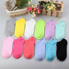 New Low Cut 10 Pairs Womens Girl Casual Short Cotton Boat Ankle Socks