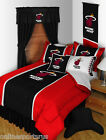 Miami Heat Comforter Sham and Sheet Set Twin Full Queen K...