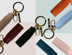 Tassel Key Rings Keychain Handbag Charm Fringe Purse Accessories Genuine Leather