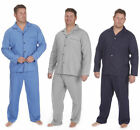 Men's Big  Tall Plain Woven Poplin Pajama Set 3XL-5XL