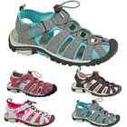 LADIES WOMENS SUMMER SPORTS ADVENTURE CLOSED-TOE SANDALS WALKING HOLIDAY SHOES