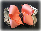 Leopard & Coral Boutique Double Layered Hair Bows Girls Baby Big Pageant Hairbow